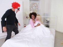 Luna Corazon and Daisy Lee in Evil Clown Attacks Two Girlfriends 02