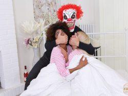 Luna Corazon and Daisy Lee in Evil Clown Attacks Two Girlfriends 03