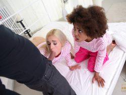 Luna Corazon and Daisy Lee in Evil Clown Attacks Two Girlfriends 05