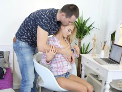 Nancy A in Lad Serves Busy Blondie 02