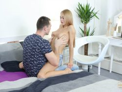 Nancy A in Lad Serves Busy Blondie 03